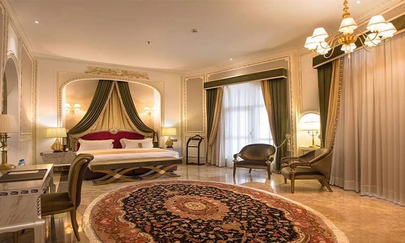 نمای داخل اتاق هتل اسپیناس پالاس
